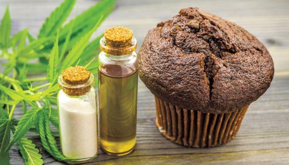 cannabis flower chocolate muffins